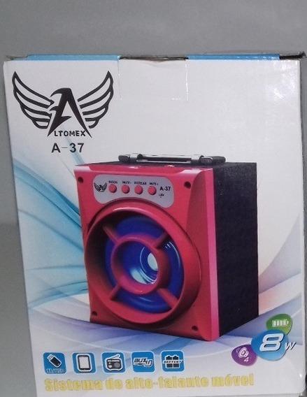 Caixa De Som Altomex A-37 Bluetooth Portatil