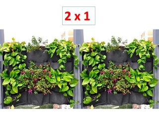 Muro Verde Jardin Vertical Follaje Interior Maceta Geotextil 2x1 Ecologico Material Reciclado Ecologico Sustentable