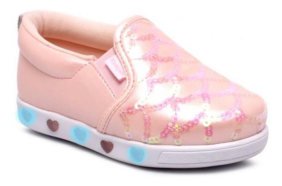Pampili 165.120 Tênis Infantil Slip On Led Luz Sneaker Iate