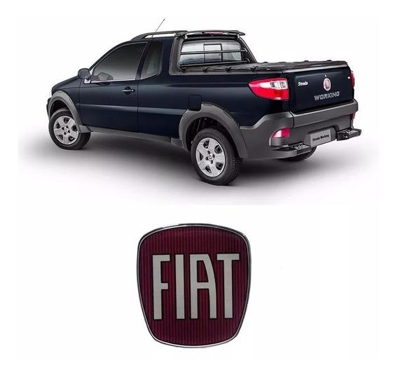 Adesivo Da Maçaneta Tampa Traseira Fiat Strada Resinado