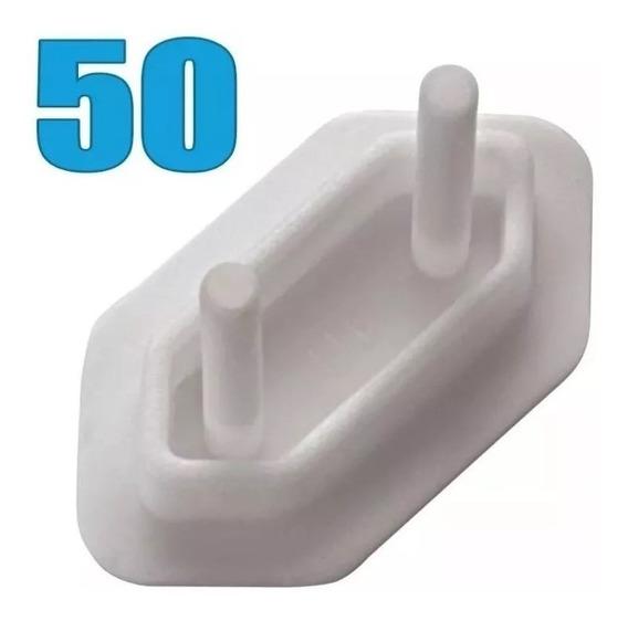 Protetor De Tomada Branco Com 50 Unidades Sforplast
