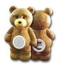 Parlante Portatil Oso Ted Mp3 Radio Usb Bluetooth Lector Sd