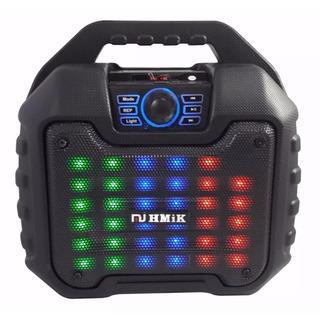 Parlante Multimedia Bluetooth Karaoke Portátil Luces Led Mp3