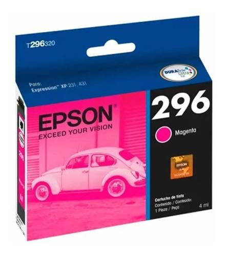 Cartucho De Tinta Epson T296320 296 Magenta Original
