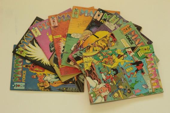 Hqs Marvel Force 9 Edições Coleção Completa Ed. Globo 1991