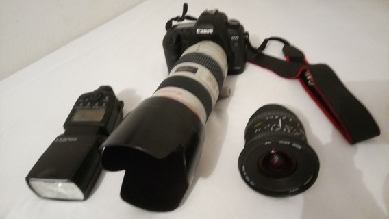 Canon Eos 5d Mark + 3 Lente 24-70 E 70-200 E 17-35 E Flash