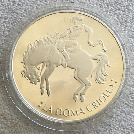 Argentina : Moneda Plata 25 Pesos La Doma Criolla 2000