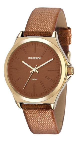 Relógio Feminino Mondaine 76674lpmvdh1 38mm Couro Marrom