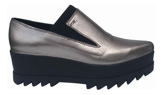 Zapato Mujer Cuero En Punta Plataforma Bendita Tu Eres