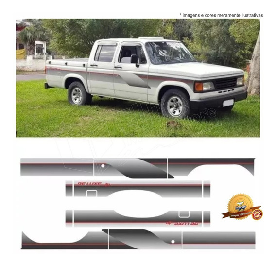 Kit Faixas/adesivos D20 C20 94 Dupla Prata - Modelo Original