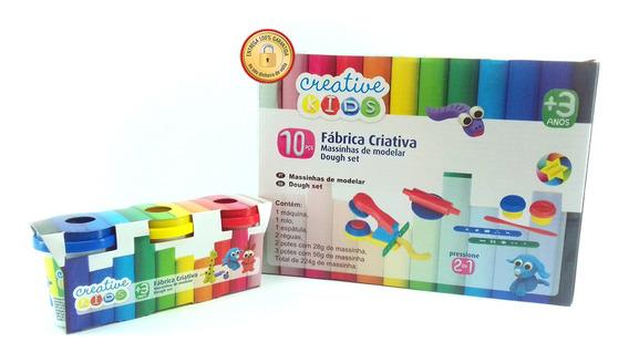 Kit Massinha De Modelar Fabrica Criativa 10 Peças 2x1