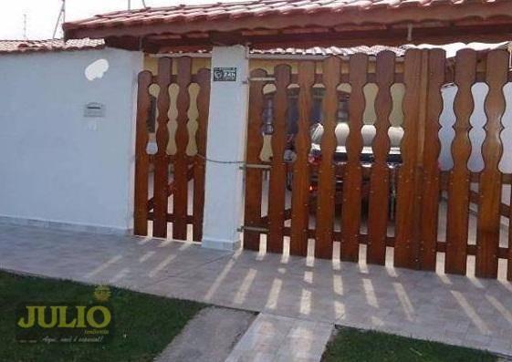 Casa Lado Praia Itanhaém Próximo Ao Bopiranga Gaivotas 3 Dormitórios Arejada 3 Vagas Carro - Ca3271