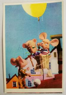 Topo Gigio Figurita Tarjeta Postal N° 56 Inician Viaje 1969