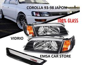 Focos Euros En Vidrio Toyota Corolla 93 -98 Japon Combo