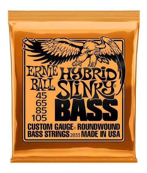 Encordado Para Bajo 4 Cuerdas Ernie Ball P02833 45-105