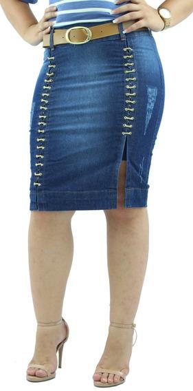 Combo Com 2 Saias Jeans Secretária Modelos Novos Sem Juros