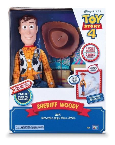 Muñeco Woody Cae Por Tu Voz Toy Story 4 Original 70 Frases