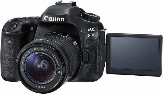 Câmera Dslr 80d (ótimo Preço) + Speedlite Iii + Memoria 64gb