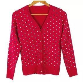 Kit 9 Casacos Lã Blusas Cardigã Botões Estampas Feminino