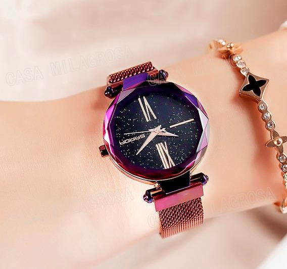 Relógio Importado Feminino Romano Luxo Casual Roxo