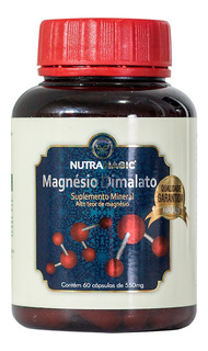 1 Magnésio Dimalato Nutramagic Puro Materia Prima Importada