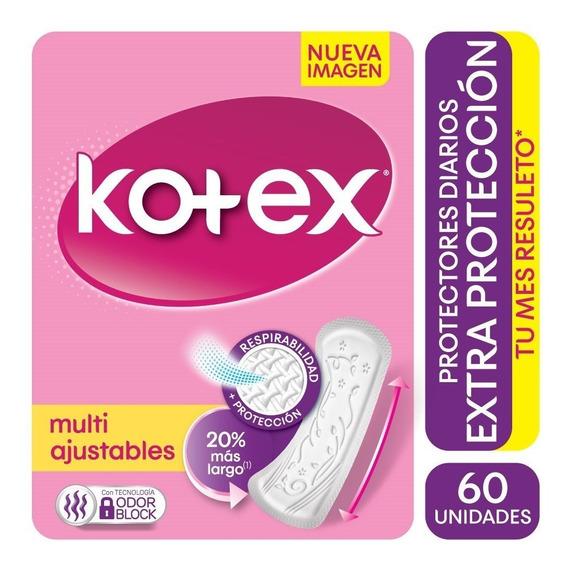 Protector Extra Kotex Proteccion Multiestilo X 60
