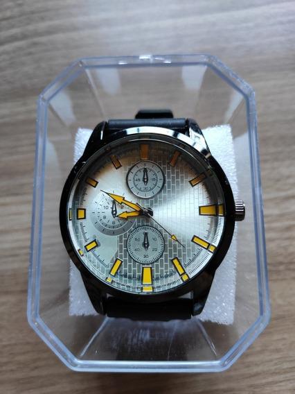 Relógio Masculino Alpha - Black Yellow - Pronta Entrega