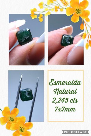 Esmeralda 2 245 Cts Retangular Natural 7x7 Mm Inclusão