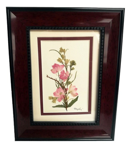 Imagen 1 de 3 de Cuadro Decorativo Hecho A Partir De Flores Silvestres
