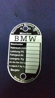 Chapa Especificaciones Moto Bmw R50/60/60s