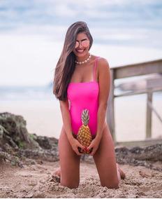 Body Maio Roupa Feminina Decote Reto Alcinha Sem Bojo