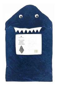Toalha De Banho Infantil Com Capuz Menino Cor Azul 84cm