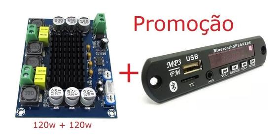 Placa Amplificadora + Decodificador Bluetooth