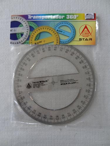Set De 04 Transportador Star 360° X 13 Cms