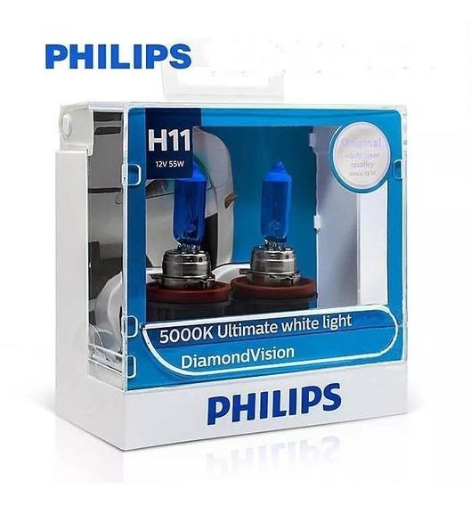 ( 100% Original ) Philips Diamond Vision 5000k H11 Promoção