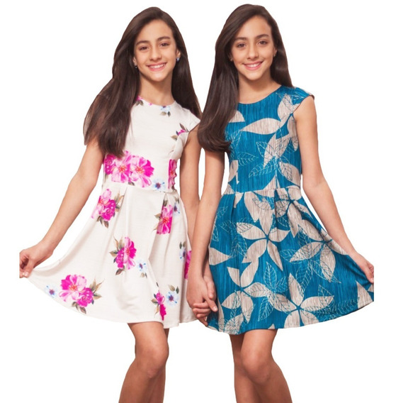 Roupas Infantil Menina Vestidos Estampado Preguinha Gotinha