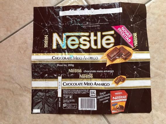 Antiga Embalagem Nestlé Com Receita Chocolate Meio Amargo