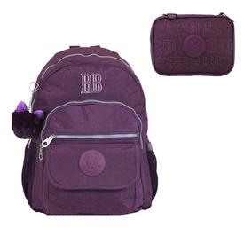 Kit Rebecca Bonbon Mochila Notebook Rb9130 Estojo 100 Pens