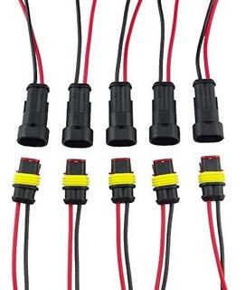 Conector Electrico Para Autos Highrock 5 Unidades 2 Terminal