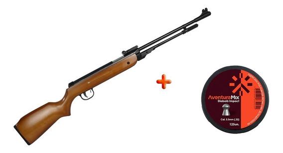 Carabina Pressão Fixxar Spring West 5.5mm + Chumbinho