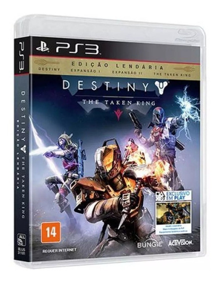 Game Ps3 - Destiny - The Taken King - Edicao Lendaria