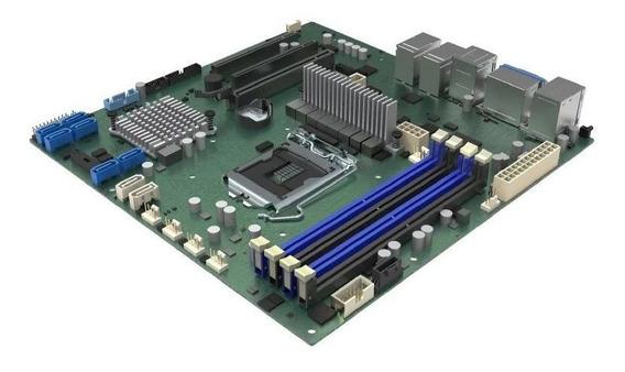 Placa Mãe Servidor Xeone Ddr4 Ecc Udimm Chipset C246 Lga1151