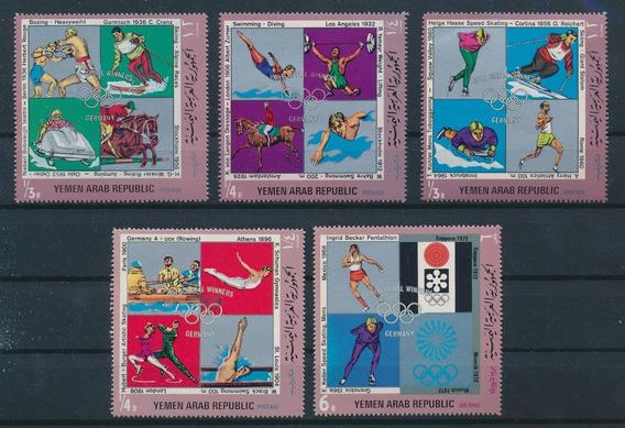 Yemen 1970 Juegos Olimpicos Campeones Alemanes Serie Mint