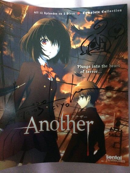 Anime Another Blu-ray Autografado Por Hiro Kiyohara