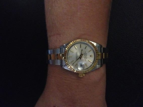 Relógio Rolex Feminino Ouro E Aço