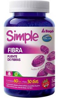Simple Fibras X 60 Pastillas De Goma