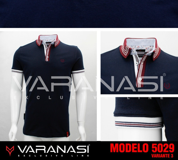 Playera Hombre Tipo Polo 5029 Slim Fit Moda Varanasi
