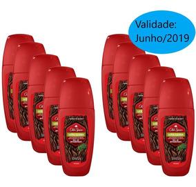 Kit Com 10 Desodorantes Old Spice Roll On Lenha 50ml