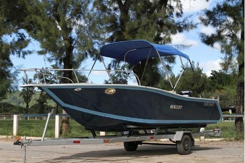 Lancha De Alumínio Malloy Modelo Fast 650 P/ Água Doce