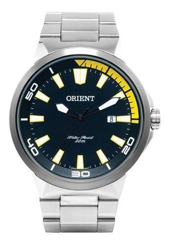 Imagem 1 de 4 de Relógio Orient Masculino Sport Aço Inox Original Nota Fiscal